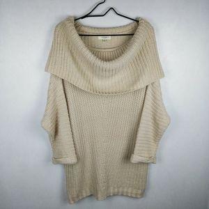 Umgee Cream Knit Sweater Cowl Neck XXL